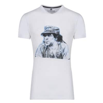 Prince Oliver T-Shirt Λευκό με Στάμπα Maradona 100% Cotton- Collection A/W